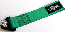 CZRRACING UNIVERSAL GREEN HIGH STRENGTH RACING RALLY TOW STRAP KIT FRONT/REAR