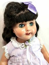 "Effanbee Vintage Repro Sleepy Eyes Lavender Rosemary 18"" Sleeper Eyes Vinyl Doll"