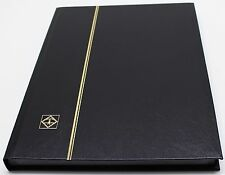 BLACK 32 Page Hardcover Stamp Stock Book, BLACK Pages, 9 Strips/Page, Lighthouse