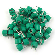 30pF Plastic Green Case Adjustable Trimmer Capacitors 50 Pcs B3