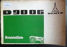 Deutz Schlepper D 9006 Ersatzteilliste