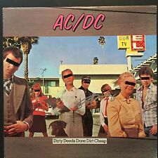 Angus Young AC/DC Signed Autograph Dirty Deeds Done Dirt Album Record LP JSA COA