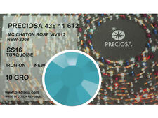 HOTFIX, 1440 Preciosa Genuine Czech Crystals 16ss Turquoise Viva Iron-on, 4mm