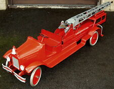 Very Rare Buddy L Water Tower Fire Truck - Pressed Steel - Circa 1929-30