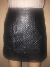 Quilted pleather skirt topshop size 10