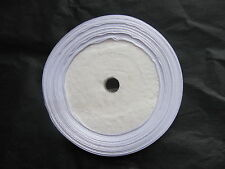 25yds (20m) roll 12mm width bright white satin single sided ribbon slight 2nds
