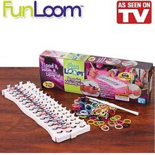 FUN LOOM SEEN ON TV BRACELET MAKING KIT INCLUDES 600 RUBBER BANDS HOOK N FRAME