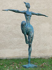 Vie grand xxl bronze jardin sculpture-dancing queen-signée Milo