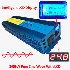 PURE SINE WAVE 3000W MAX 6000W 24V-240V WATT POWER INVERTER CAR CARAVAN CAMPING
