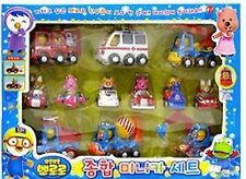 12 pcs X Pororo Mini Vehicles Car Pull back & Go or wind-up Korean Animation Toy