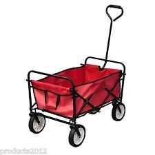 XL Foldable Garden Trolley 4wheel Heavy Duty Wheelbarrow folding Garden Cart