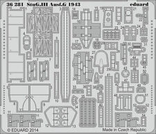 EDUARD 1/35 PE PHOTO-ETCHED DETAIL SET for DRAGON STUG III Ausf.G 1943 #6578