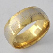 Vintage Yellow Gold Filled Jewelry Punk Mystic Mens boys  Band Ring Size 10 lot