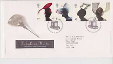 GB ROYAL MAIL FDC FIRST DAY COVER 2001 FABULOUS FASHION HATS STAMP SET TALLENTS