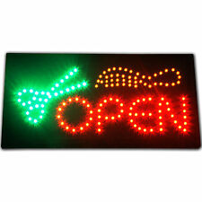 Hair Salon LED Sign Open Bright Store neon Animated beauty Barber Shop Cut Light