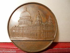 1849 BELGIUM ART MEDAL UK CATHEDRAL OF SAINT PAUL WIENER