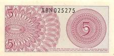 Indonesia  *5* Sen  1964  Series XBN  Replacement  Uncirculated Banknote M27Jw
