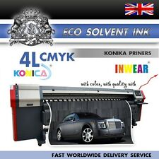 NEW Eco Solvent ink for Konica KM512/42pl 4Liters CMYK Best QualetyFast shipping