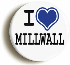 I HEART LOVE MILLWALL BADGE BUTTON PIN (1inch/25mm diameter) THE LIONS DOCKERS