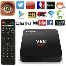 V88 RK3229 UHD 4K Latest 16.1 Smart Android 6.0 TV Box 8G Quad Core Media Player