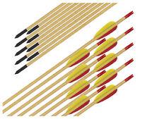 10x 30 Zoll Holz Pfeile Bogensport Bogenschießen Bogen