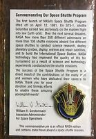 NASA STS SPACE SHUTTLE PROGRAM PIN BLENDED WITH METAL FLOWN IN SPACE