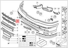 Genuine BMW E39 Sedan Wagon Front Bumper Open Grid Grille OEM 51118235671