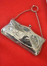 Antique silver hallmarked LADIES PURSE