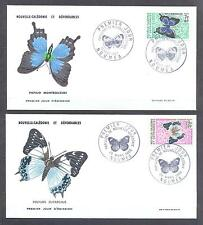 NEW CALEDONIA 1967, Butterflies, set of 7, 7FDC (77)