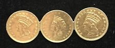 Lot of Three USA $1 Gold Coins made into a Broach - Coin Jewellery