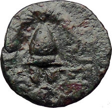 Antigonos II Gonatas Macedon King 277BC Ancient Greek Coin Shield Helmet i30514