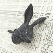 Mr Hare Rabbit Metal Drawer Cupboard Knob - Vintage Look Quirky Upcycle