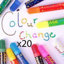 20 x KIDS MAGIC COLOUR SWAP PEN SET Colouring Drawing Felt Tip Markers Change