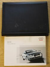 Audi A4 saloon manuel owners manual wallet 2004-2007 pack 11797