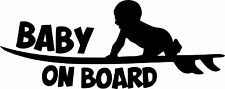 Baby On Board Baby Child Window Bumper Car Sign Decal Sticker VW Honda Ford
