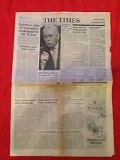The Times newspaper 1st October 1975. Complete.