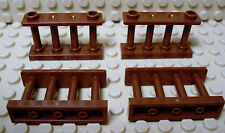Lego Legos  Set  of  4  Brown Fence Spindled 1 x 4 x 2 with 2 Studs Harry Potter