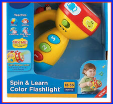 Educational Toys For 2 Year Old Kids Spin and Learn Color Flashlight Boys Girls