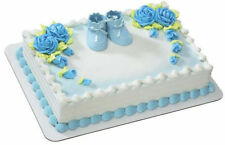 Blue Baby Booties Shower Boy cake decoration Decoset cake topper set