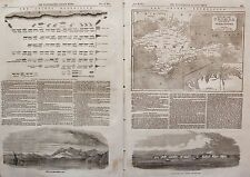 1854 THE CRIMEA EXPEDITION MAP OFFICIAL ARRANGEMENT OF THE BRITISH DIVISION