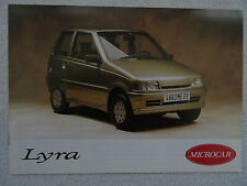 Microcar lyra brochure c1990's. - re, rs, primrose bordier, tre, trs, rx, 1-2 cylindres