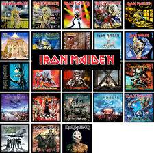IRON MAIDEN 24 pack of album cover discography magnets lot (metallica kiss ac/dc