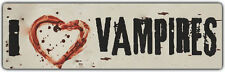 Bumper Stickers: I LOVE VAMPIRES   With Bloody Heart
