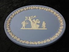 C1970s Wedgwood Jasperware - Light blue classic decoration plaque/ tray