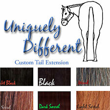 Custom Made One Pound Horse Tail Extension! Black, Sorrel and Chestnut