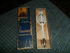 Vintage Taylor Roast Meat Thermometer W/ Box & Paper
