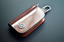 Fashion Car logo  leather Bag keychain key case Holder Fit for Volkswagen VW