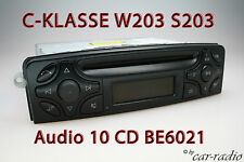 W203 radio Mercedes Audio 10 CD be6021 Original C-Classe Becker autoradio s203