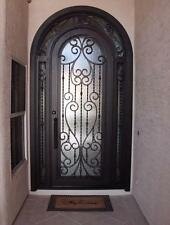 """Hand-Crafted 56"""" X 108"""" Wrought Iron Entry Doors - $3,285 (All in 12 Gauge Iron)"""