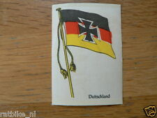 COUNTRY FLAG- SILK ENBLEMEN SEW ON BADGE GERMANY DUITSLAND  FLAG FROM THE 50'S ?